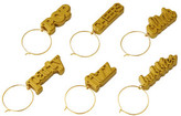 Anna Gare Cocktail Hour Wine Charms Set of 6