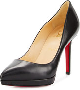 Christian Louboutin Pigalle Plato Leather Red Sole Pump, Black