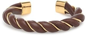 Bottega Veneta Leather and sterling silver bracelet