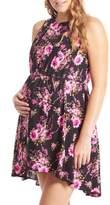 Everly Grey Crystal Maternity/Nursing High/Low Dress