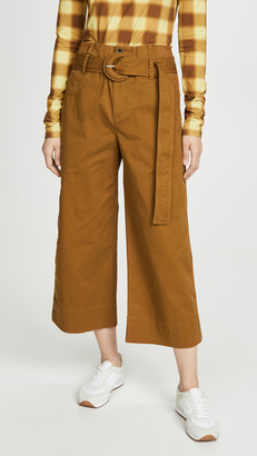 Proenza Schouler White Label Cotton Paper Bag Pants