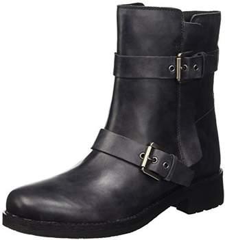 Geox D NEW VIRNA E, Women's Biker Boots, Grey (Anthracitec9004), (36 EU)