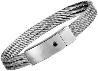 Charriol Stainless Steel Cz Bracelet