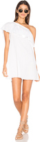 Milly Crinkle Cotton One Shoulder Cover Up