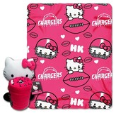 Hello Kitty NFL Chargers Blanket and Hugger Bundle (40 x 50)