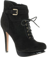 Uma Leather Lace-Up Ankle Boot
