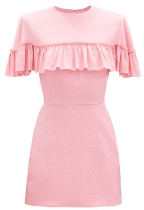 The Vampire's Wife The Nearly Nuthin' Silk-blend Mini Dress - Pink