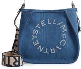 Stella McCartney Mini Eco Studded Logo Organic Denim Crossbody Bag