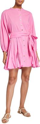 Rhode Resort Emma Dolman-Sleeve Button-Front Dress