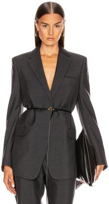 Bottega Veneta Tailored Blazer in Charcoal Melange | FWRD