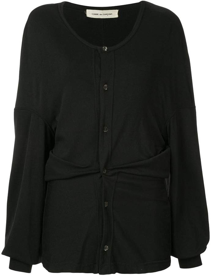 Comme des Garcons Pre-Owned ruched long-sleeve cardigan