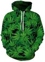 9Yourtime YOUR LOVE Weed Leaf Hipster Crewneck 3D Hoodie Pullover Men Harajuku Sweatshirt (XL)