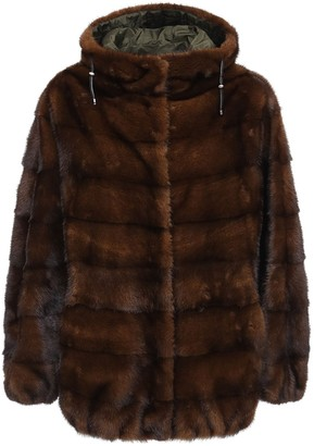 Simonetta Ravizza Reversible Bomber Jacket W/ Fur