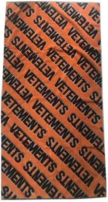 Vetements Orange Cotton Scarves & pocket squares