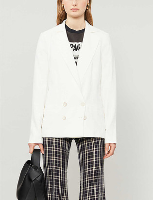 Paige Rosette double-breasted woven blazer