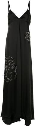 Fleur Du Mal Bead Embroidered Silk Gown