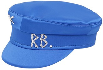 Ruslan Baginskiy Baker Boy Satin Hat W/crystals