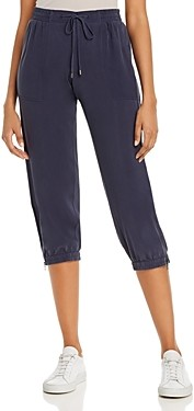 Annieglass Go By Go Silk Cropped Jogger Pants