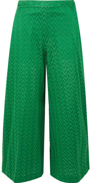 Missoni Crochet-knit Wide-leg Pants - Green