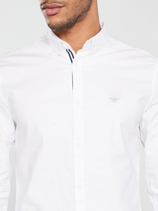 River Island White Oxford Stretch Long Sleeve Shirt