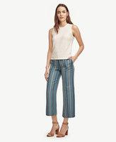 Ann Taylor Petite Striped Wide Leg Ankle Pants