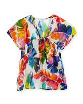 Milly Minis Banana Leaf Swim Coverup, Multicolor, Size 8-14