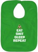 TeeStars - Eat Shit Sleep Repeat - Babies Routine Funny Baby Bib