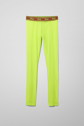 Weekday Haven Zip Leggings - Green