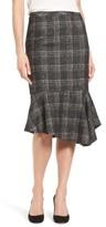 Halogen Women's Asymmetrical Ruffle Hem Skirt