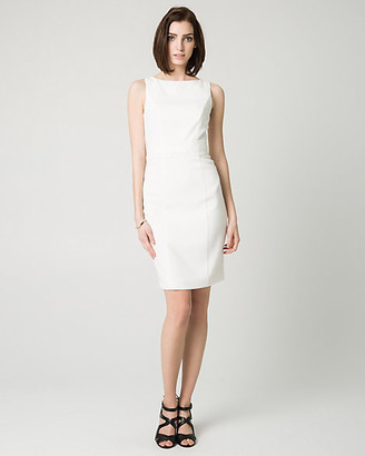 Le Château Double Weave Belted Shift Dress