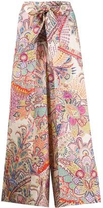 Etro Paisley Print Wide Leg Trousers