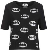 Eleven Paris Women's Batman Print Top Black