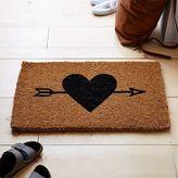 Heart + Arrow Coir Doormat