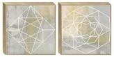 "Threshold 2-Pack Geometric Framed Canvas 18""x18"