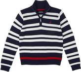 Nautica Toddler Boys' Quarter Zip Double Stripe Sweater (2T-3T)