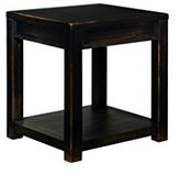 Signature Design by Ashley Ashley Furniture Signature Design Gavelston Square End Table, Rubbed Black Finish