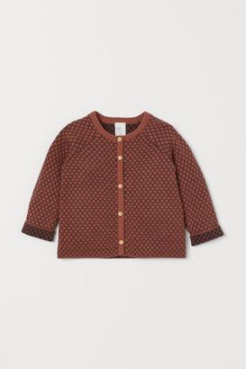 H&M Jacquard-knit Cardigan - Orange
