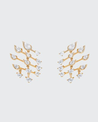 Fernando Jorge Flare Small Earrings in 18K Yellow Gold and Diamonds