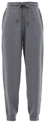 Burberry Fincham Two-tone Merino-wool Track Pants - Grey