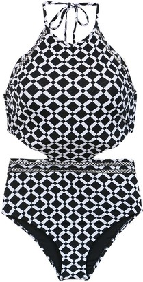 AMIR SLAMA Printed Swimsuit With Cut Details