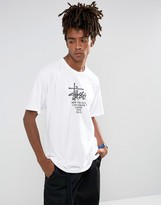 Stussy T-shirt With Big Cities Print In White