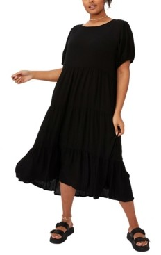Cotton On Women's Trendy Plus Size Cece Babydoll Maxi Dress