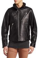 G Star Empral 3D Leather Biker Jacket