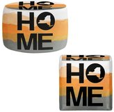 Foot Stools Poufs Chairs Round or Square from DiaNoche Designs by Jackie Phillips - Home New York Orange