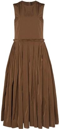 Sara Lanzi Pleated Skirt Midi Dress