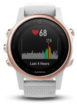 Garmin fenix(R) 5s Sapphire Multisport GPS Smart Tracker Silicone Strap Watch, 42mm