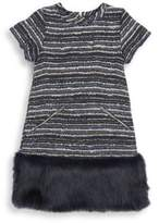 Andy & Evan Toddler's, Little Girl's & Girl's Faux Fur Hem Shift Dress