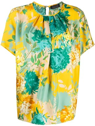 Gianluca Capannolo Floral-Print Short-Sleeved Blouse