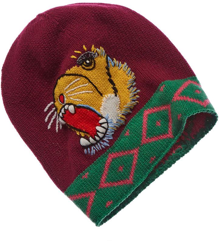 Gucci Roaring Tiger Wool Beanie