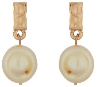 Mocha Pearl Drop Earrings - Rose Gold